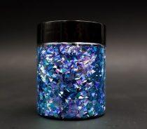3D pehely, neon kék háromszög, 25 g