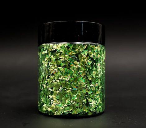3D pehely, zöld prizma, 25 g
