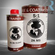 Speciális lakk 5:1 keverés. 1 liter+edző. Kiváló színezéshez és VTN fólia fedőjének.