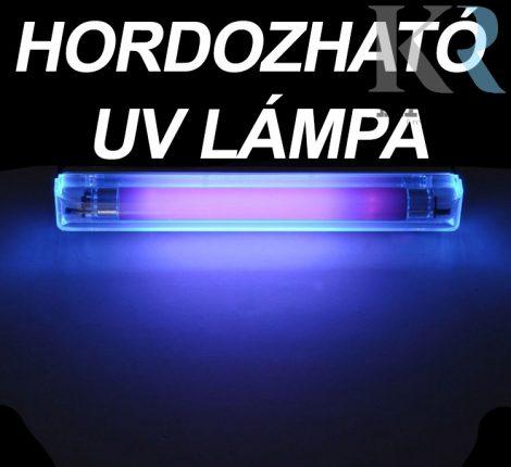 Kicsi, könnyű és tartós hordozható UV lámpa