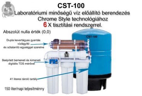 Laboratórium minőségű tiszta víz előállító berendezés. Készre szerelt. CST-100