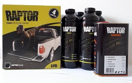 RAPTOR. Nagy ellenállású poliuretan bevonat. 4 literes komplett szett
