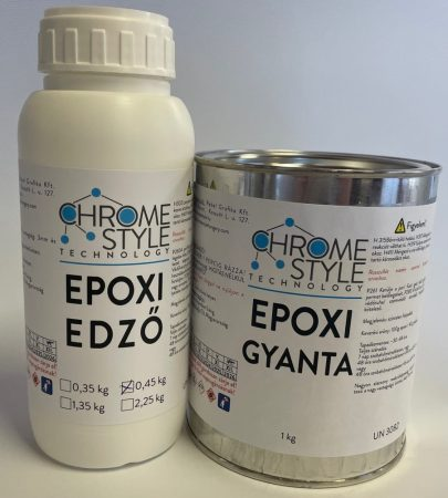 Átlátszó EPOXIGYANTA nagy vastagságú. 1 kg gyanta + 0,45 kg keményítő