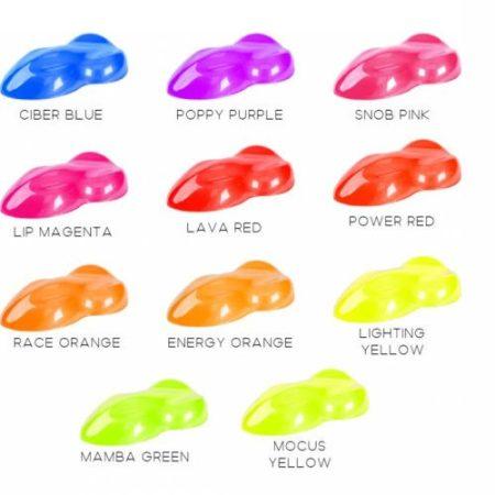 Fluoreszkáló spray. 400 ml. Választható színekben. Oldószeres