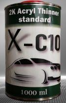 1 literes X-C10 Akril hígító 2K MS, PUR, HS festékek és lakkok minőségi hígításához