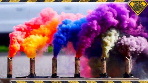 Színes füstbomba 5+1 db-os, több szín