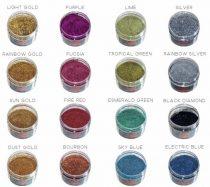 Fémpehyhek választható színekben a kosárnál. 125 gramm. Prémium. Lakkba, vagy kötőanyagba keverhető, UV álló.