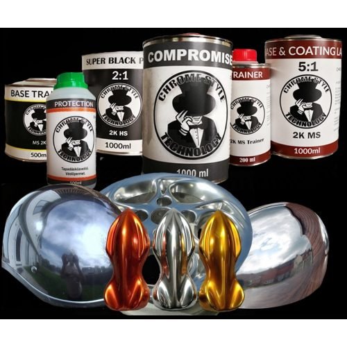 """Compromise """"Start Pack"""" szett. Króm hatású termék csomag az alaptól a befejezésig."""