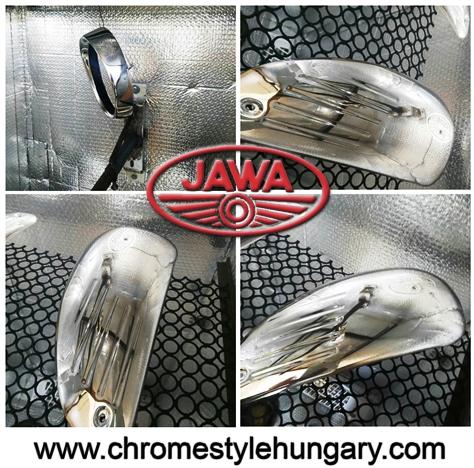 restaurálás Jawa motor