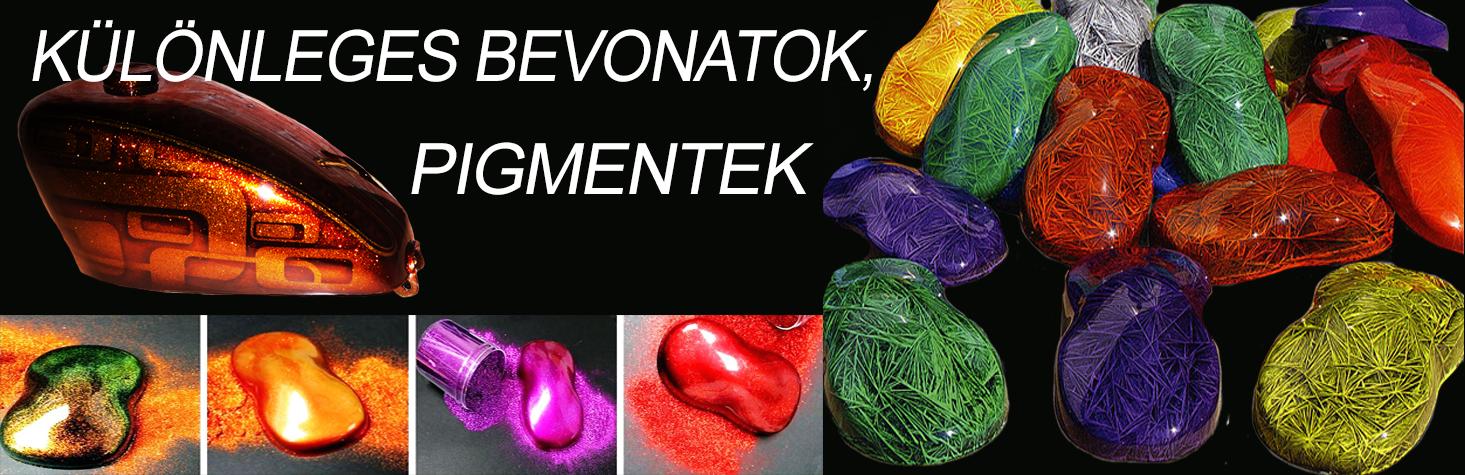 Különleges bevonatok, pigmentek